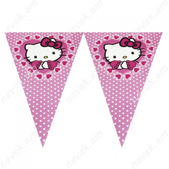 Դրոշակների շղթա Hello Kitty