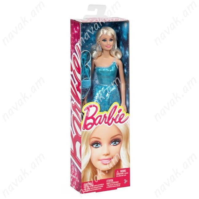 Տիկնիկ Barbie փայլուն զգեստով